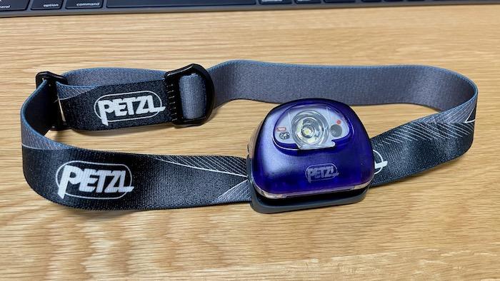 スペアバンドに交換したPETZL(ペツル)のヘッドライト、ティカXP2